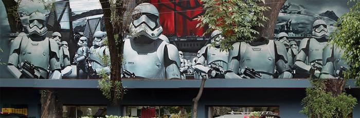 Star Wars: The Force Awakens mural