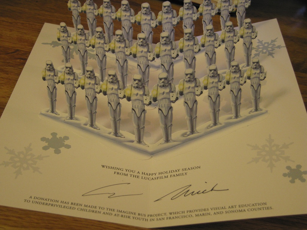 Cool stuff 30 years of lucasfilm christmas cards film 2007 lucasfilm star wars christmas card kristyandbryce Gallery