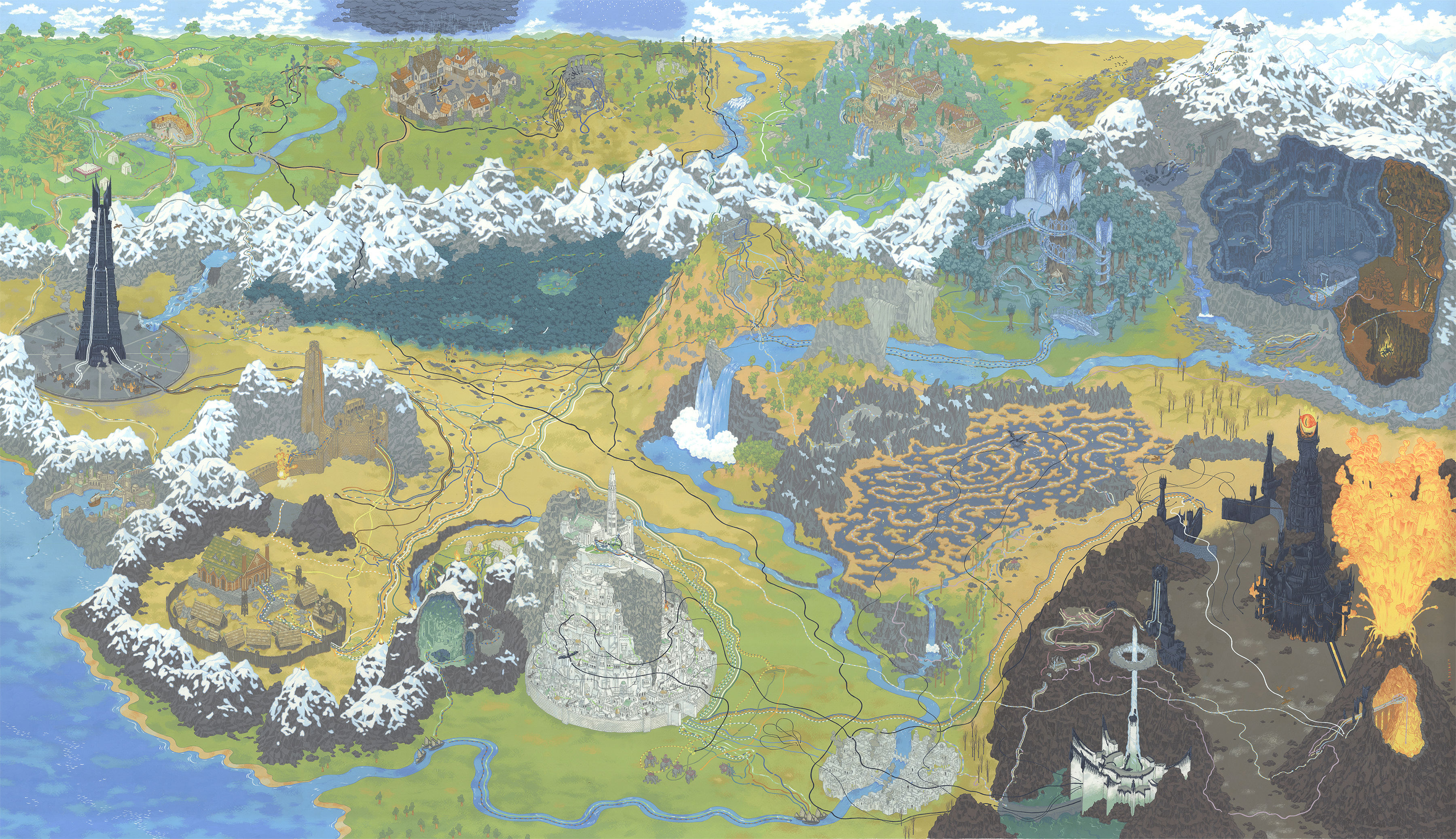 Large map of middle earth picture ideas references large map of middle earth entire entire map of middle earth on entire map of egypt publicscrutiny Images