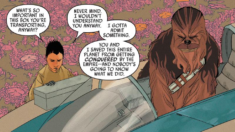 chewbacca medal mystery comic clarifies new hope ending