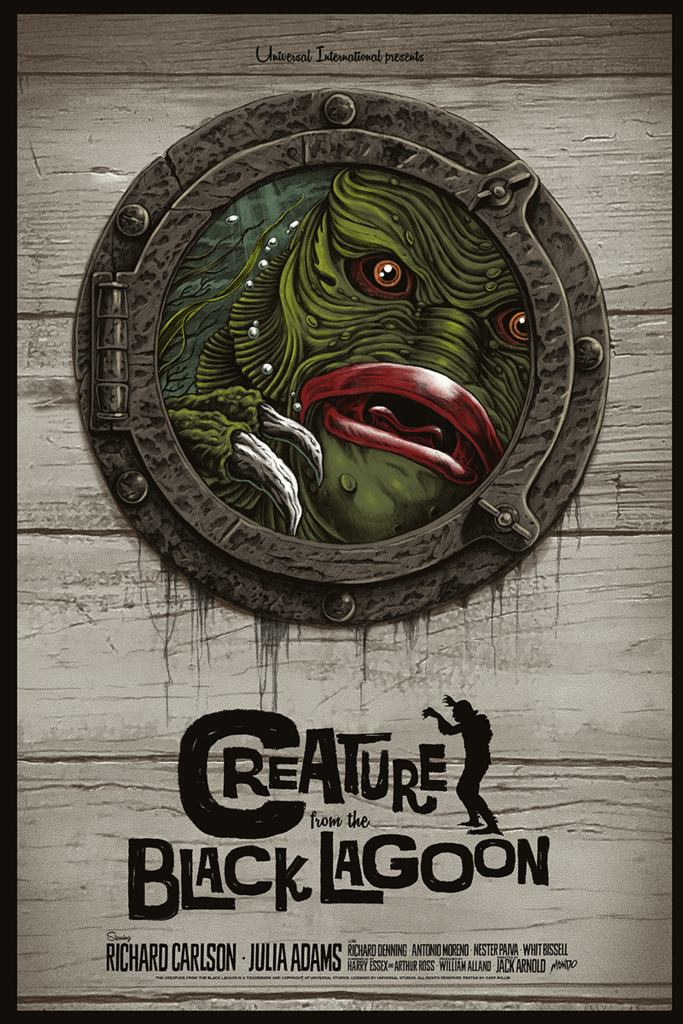 New Mondo Universal Monsters Gallery Coming Creature From The Black Lagoon Mondo Poster
