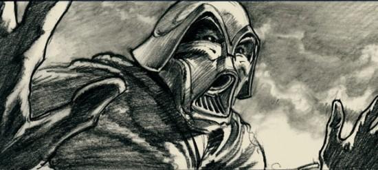 Darth Vader storyboard
