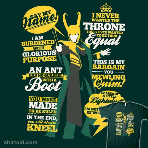 Loki Quote shirt