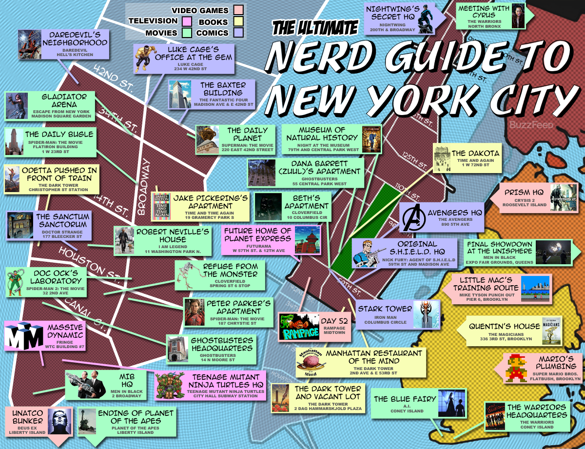 nerds of a feather flock together NERD TRAVEL New York City – Travel Map New York