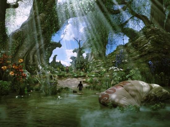 [Disney] Le Monde Fantastique d'Oz (13 mars 2013) - Page 4 Oz-Great-and-Powerful-lake-550x412