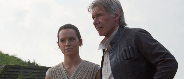 Star Wars: The Force Awakens - Rey (Daisy Ridley) and Han Solo (Harrison Ford)