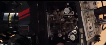 Star Wars: The Force Awakens film camera