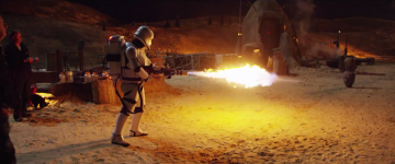 Star Wars: The Force Awakens: first order flame trooper