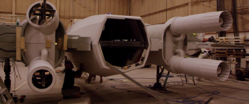 Star Wars: The Force Awakens falcon construction
