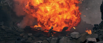 Star Wars: The Force Awakens: explosion