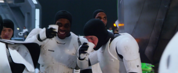 Star Wars: The Force Awakens: first order stormtroopers behind the scenes
