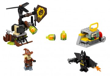 The Lego Batman Movie toy set - Scarecrow Fearful Face-off