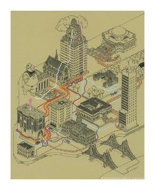 Andrew DeGraff's Ghostbusters map