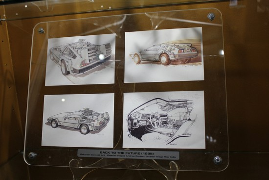 Back to the Future storyboards on display at Universal Studios Hollywood