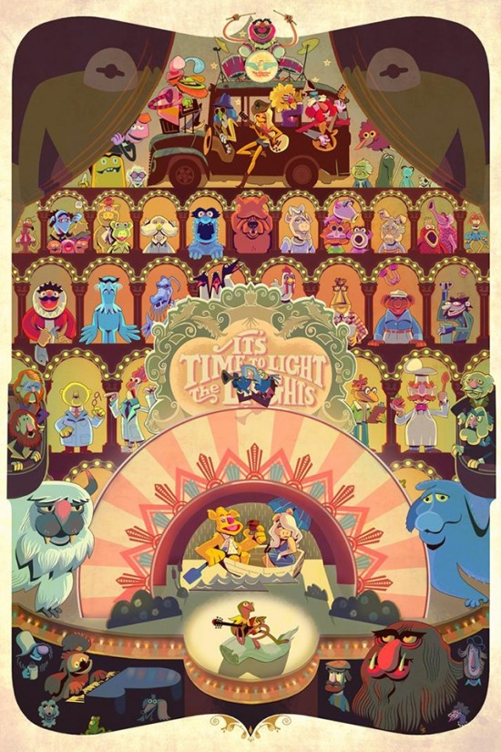 Glen Brogan's Muppets piece from his Gallery1988 show