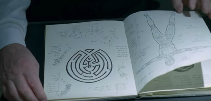 The Maze in Arnold's Journal in Westworld
