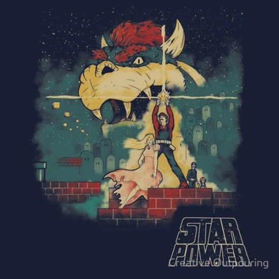 Super Mario And Star Wars Collide T-Shirt