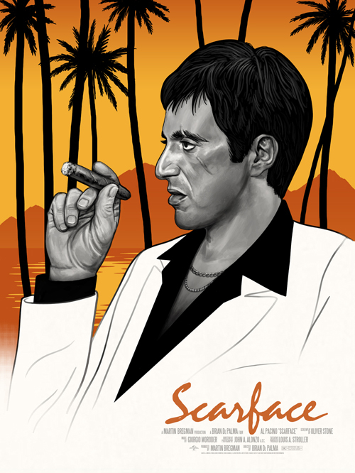 Mike Mitchell's Scarface print