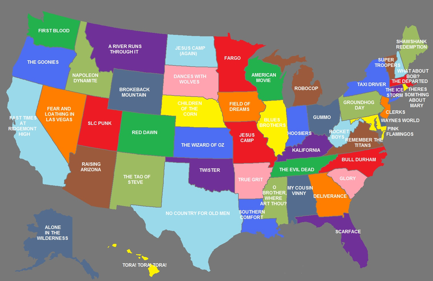 The United States of Movies Map Film