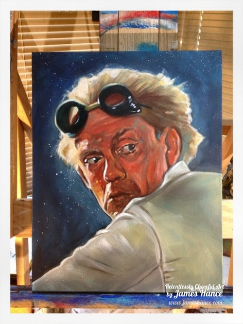 James Hance's Doc Brown painting