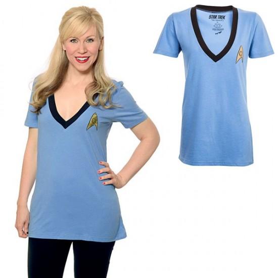 Star Trek Logo V Neck Ladies Tee