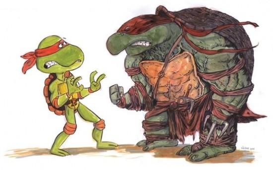 The Original Teenage Mutant Ninja Turtles Are Terrified of the New Ones