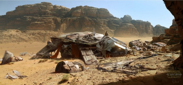 force awakens early concepts