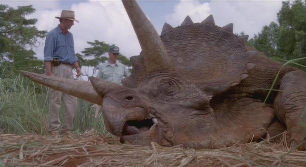Image result for sick triceratops jurassic park