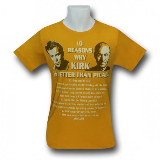 Star Trek Kirk is Better Than Picard T-Shirt
