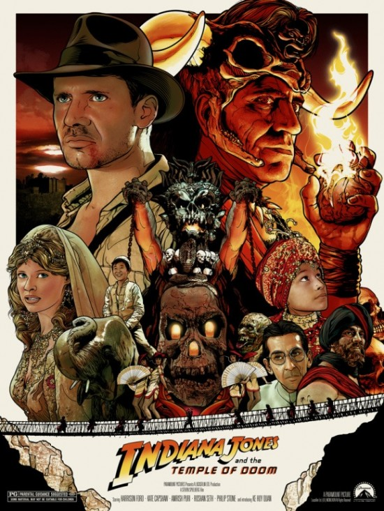 INDIANA JONES AND THE TEMPLE OF DOOM PRINT BY JOSHUA BUDICH