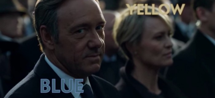 House of Cards Yellow and Blue