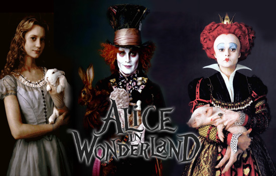 alice in wonderland characters screen