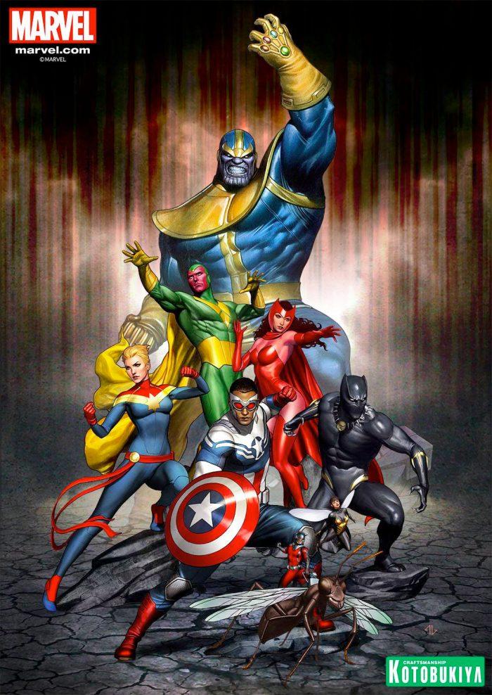Avengers Kotobukiya Statue Concept Art
