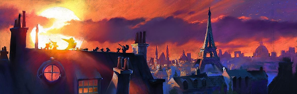 Pixar Cars Background Paintings