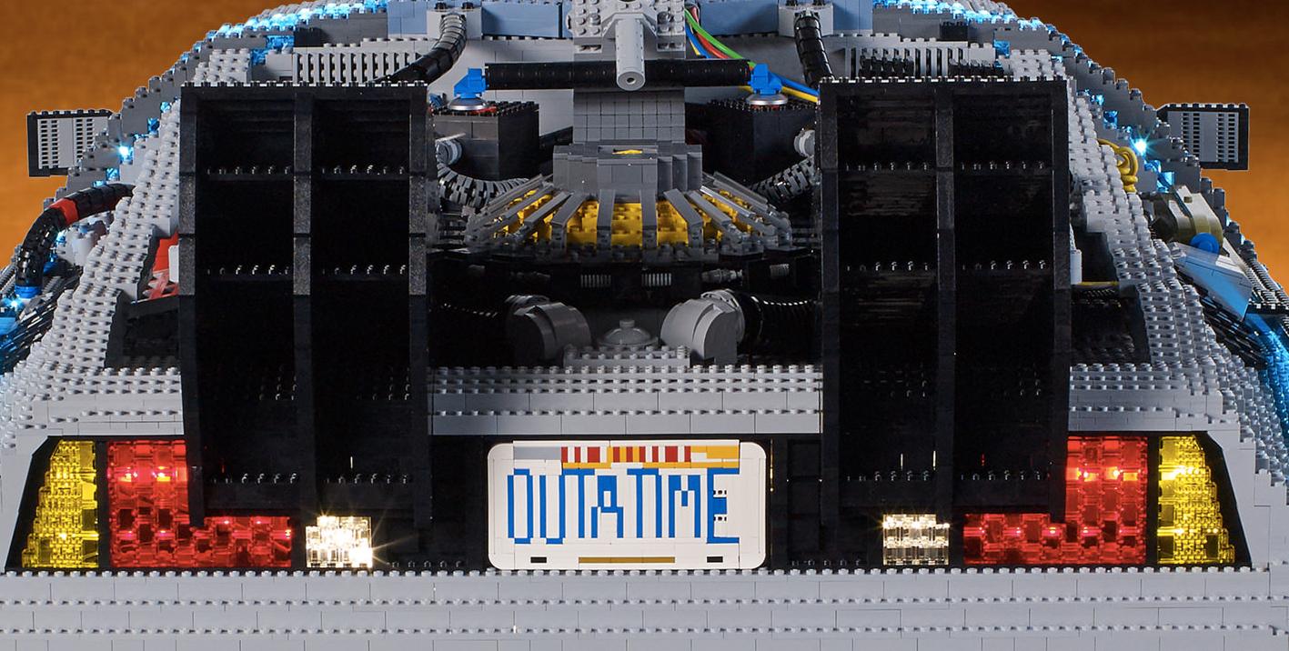 Cool Stuff Huge Back To The Future Lego Delorean Time