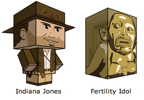 Cubecraft Indiana Jones