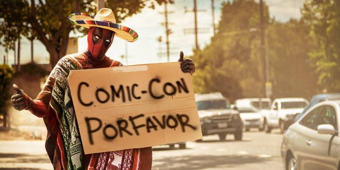 Deadpool hitchhikes to Comic Con