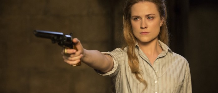 evan rachel wood in westworld episode 5 gun