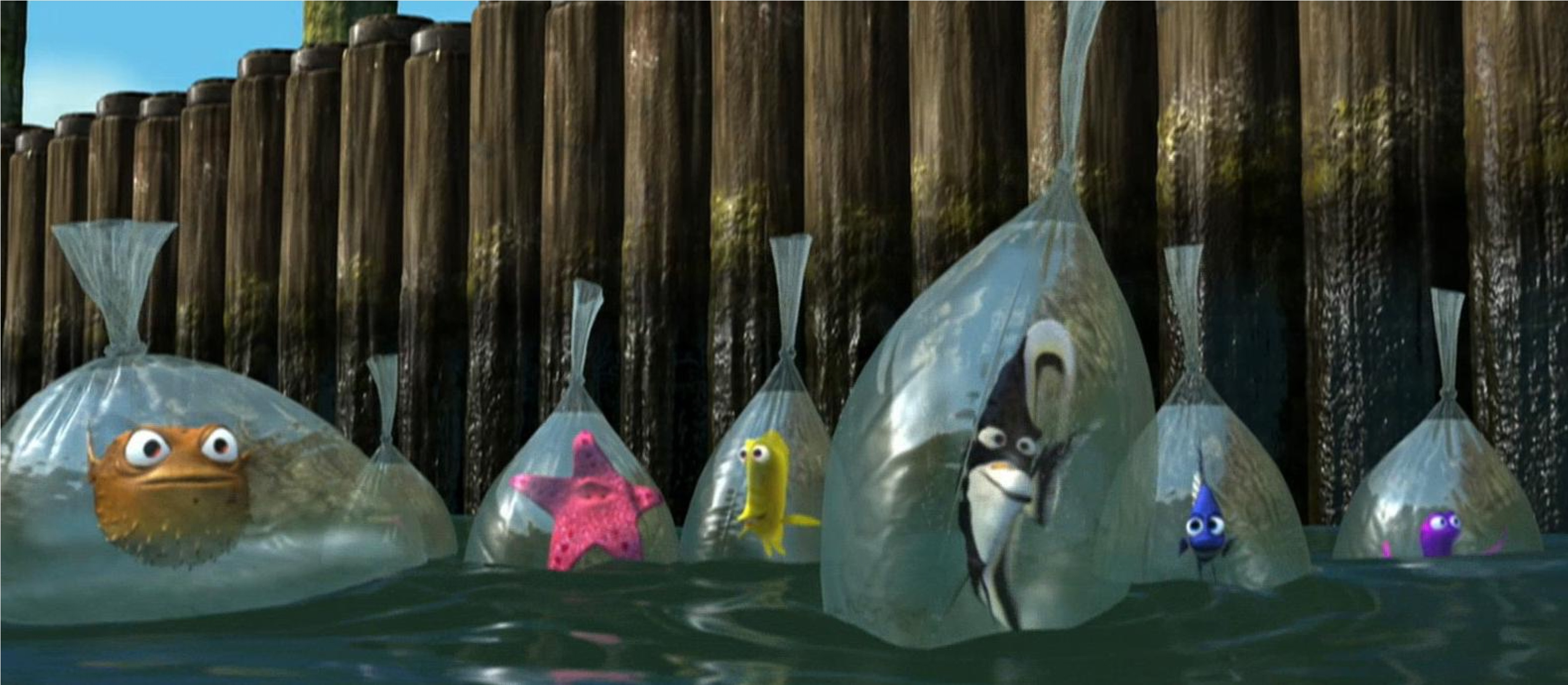 Finding Dory Deleted Scene How The Tank Gang Escaped