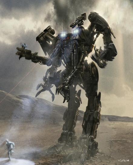 harvester concept art terminator salvation