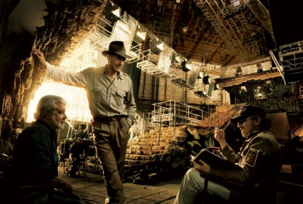 New Indiana Jones Behind the Scenes Photo