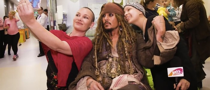 Johnny Depp's Jack Sparrow hospital visit