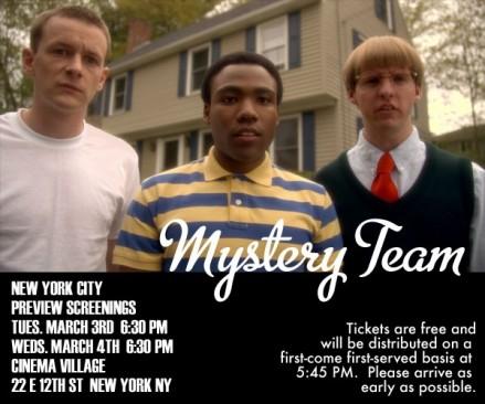 mystery team flyer