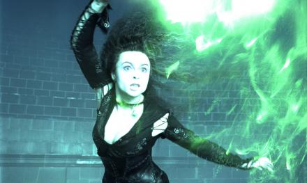 Bellatrix Lestrange in battle