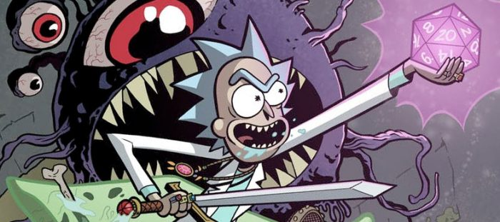 Rick and Morty Dungeons and Dragons Comic