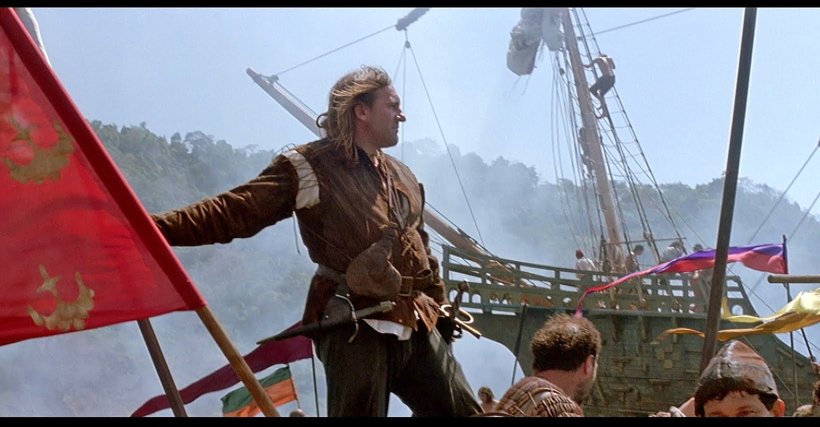 an analysis of the movie conquest of paradise 1492: conquest of paradise (1992) determined to find a new sailing route to india, christopher columbus (gérard depardieu) convinces spanish queen isabella (sigourney weaver) to finance an .
