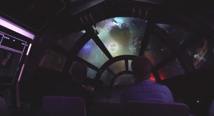 star wars land millenium falcon ride