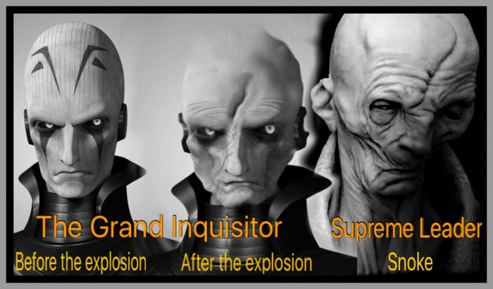 Snoke is the Grand Inquisitor from Star Wars Rebels