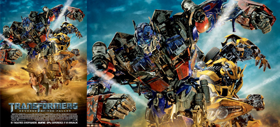 transformers 2 international poster