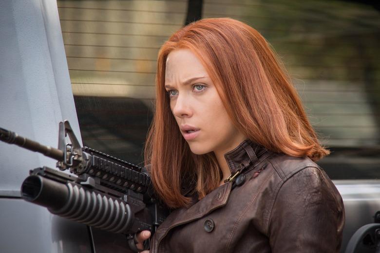 Scarlett Johansson as Black Widow in Captain America The Winter Soldier